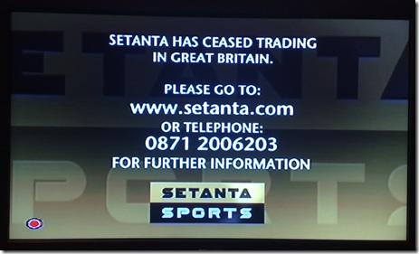 Setanta sports twitter giveaways